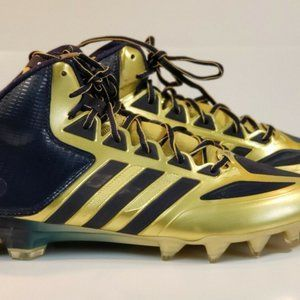 Adidas Crazyquick Blue and Gold Cleats US sz 10.5
